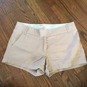 J. Crew Tan Khaki Cotton Chino Shorts Size 6